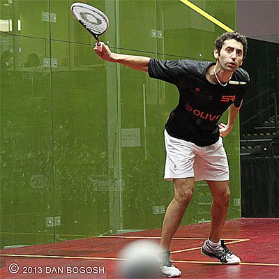 Shahier Razik plays in a squash sport tournament for Squash Revolution DC