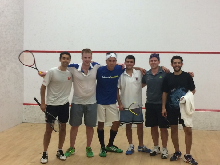 Squash players after a squash tournament in DC