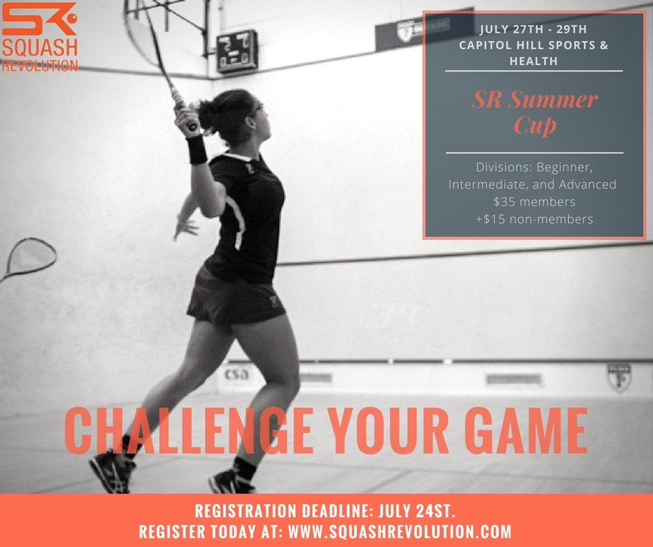 Squash Revolution Summer Cup in Washington DC for all ages and skills