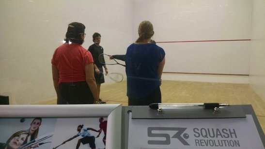 Squash players coached for a squash tournament in DC