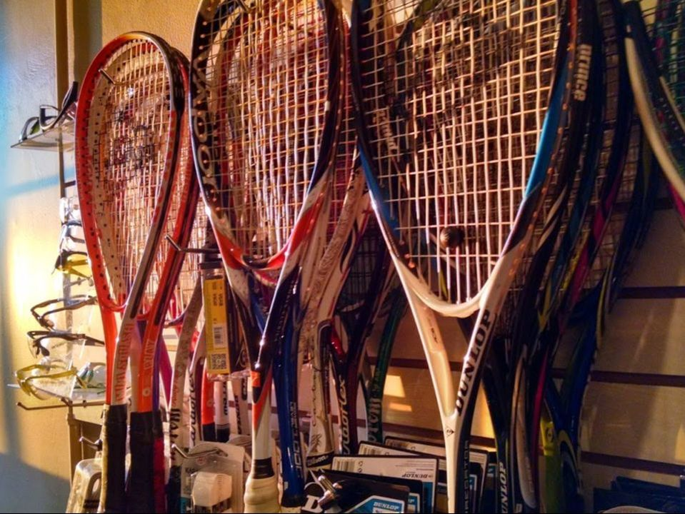 Squash rackets at squash revolution pro shop in Bethesda MD