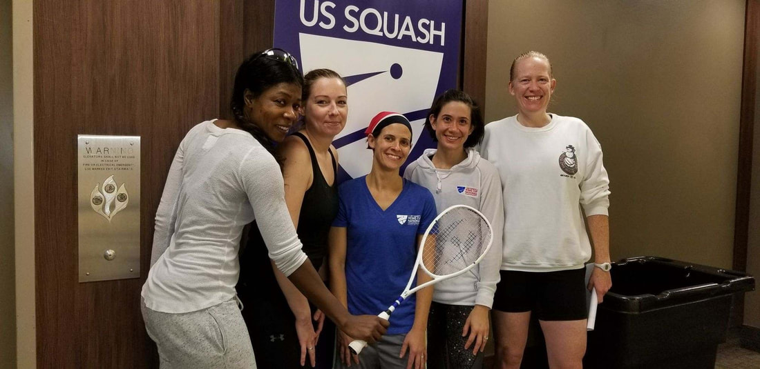 Pictureof the C team Squash Players in Washington DC