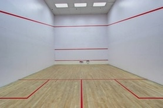 View of the Squash sport courts in Herndon VA at Squash Revolution