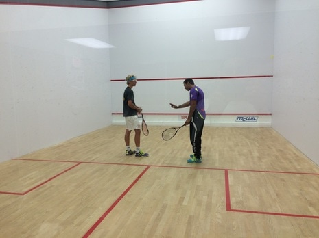 Squash Private Lessons on the squash sport courts at Squash Revolution in Mclean VA
